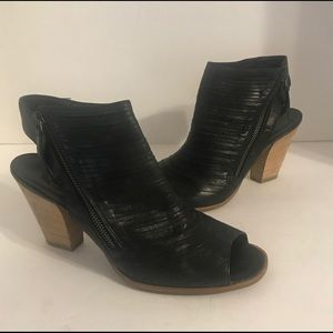 Paul Green Cayanne Open Toe Ankle Black 7 1/2